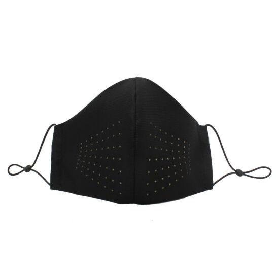 Fekete textil maszk