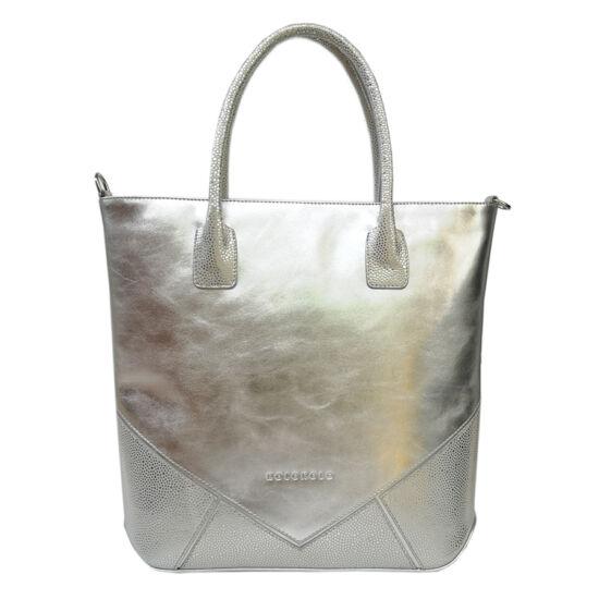 Mozaik női elegáns ezüst táska