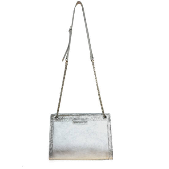 ezüst elegáns láncos táska