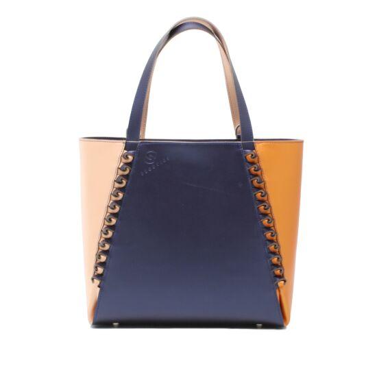 Női barack-szilvakék-narancs 3D táska