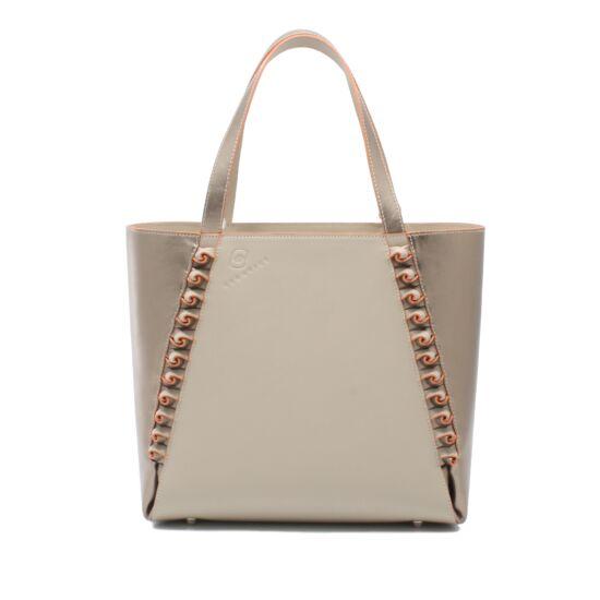 bronz bézs táska