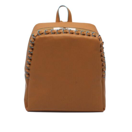 Női csau barna bőr hátizsák