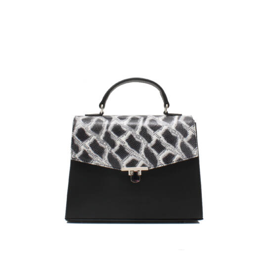 fekete fehér táska