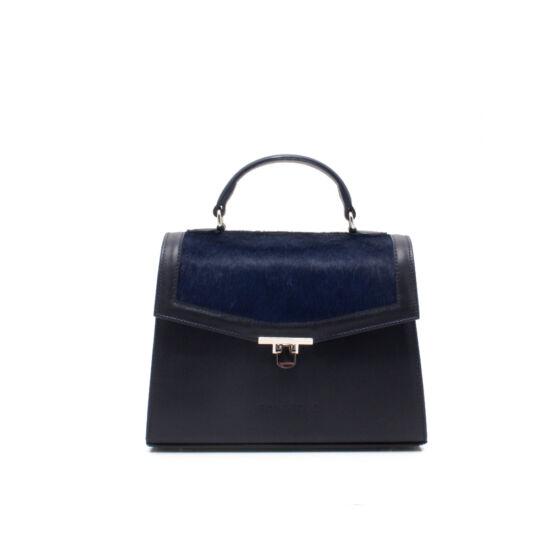 sötétkék női táska