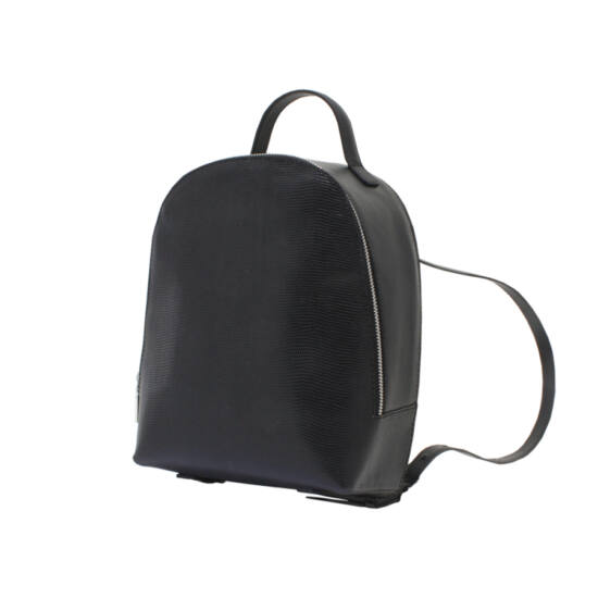 Fekete mini bőr hátizsák