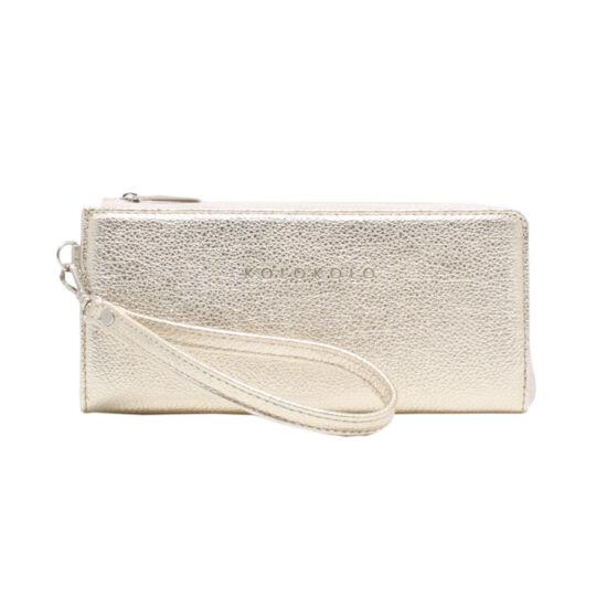 Női arany bőr pénztárca