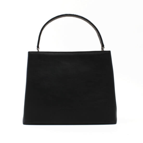 Női fekete bőr táska