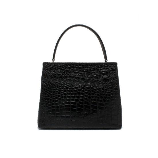 női fekete krokó táska