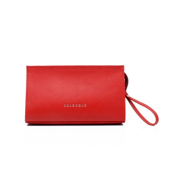 Csuklópántos piros smink táska