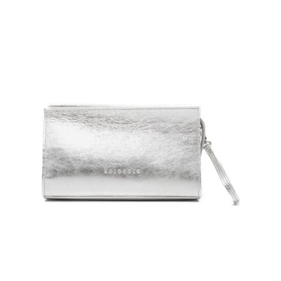Csuklópántos ezüst smink táska