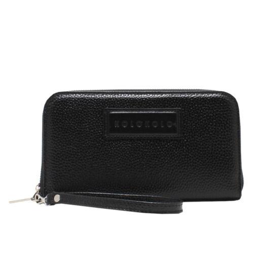 Fekete női bőr pénztárca