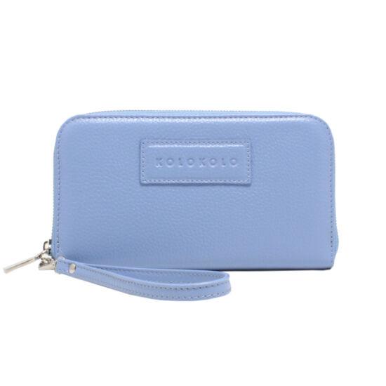 Női kék bőr pénztárca