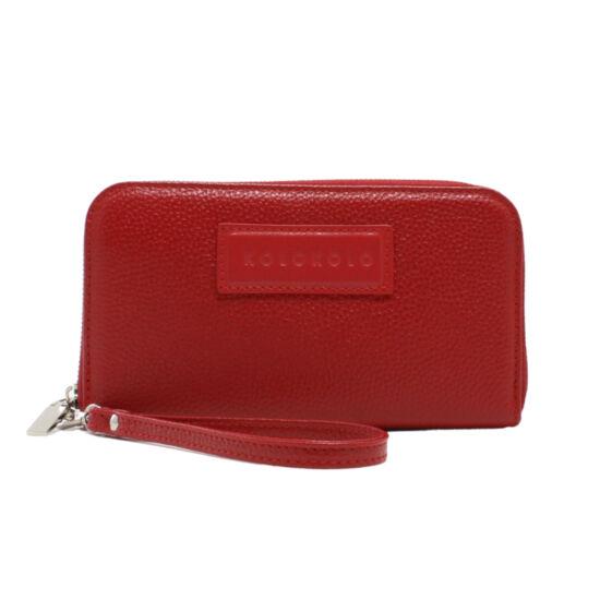 Piros női bőr pénztárca
