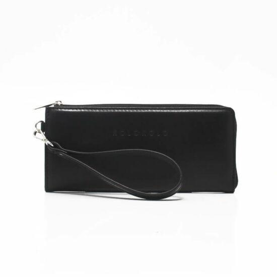 fekete bőrpénztárca