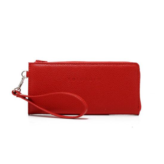 női piros bőrpénztárca