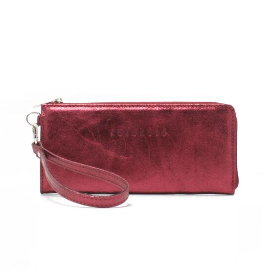 női szilvalila bőrpénztárca