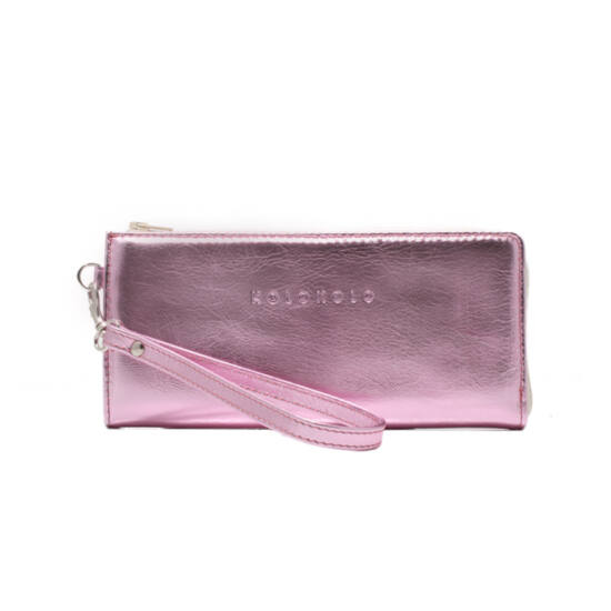 Női cukorka rózsaszín bőrpénztárca